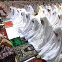 مقدار پوشش واجب برای زن در حال نماز