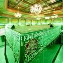 شعر سنگ قبر حضرت عباس(ع) حک شده است